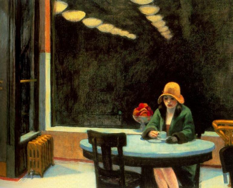 Painting by Edward Hopper - Automat
