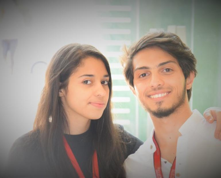 Eyad and Raghad at TEDxYouth@Jahez event