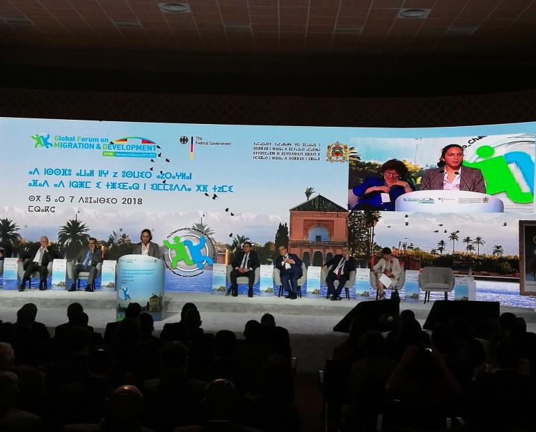 Panel at the introduction of the GFMD