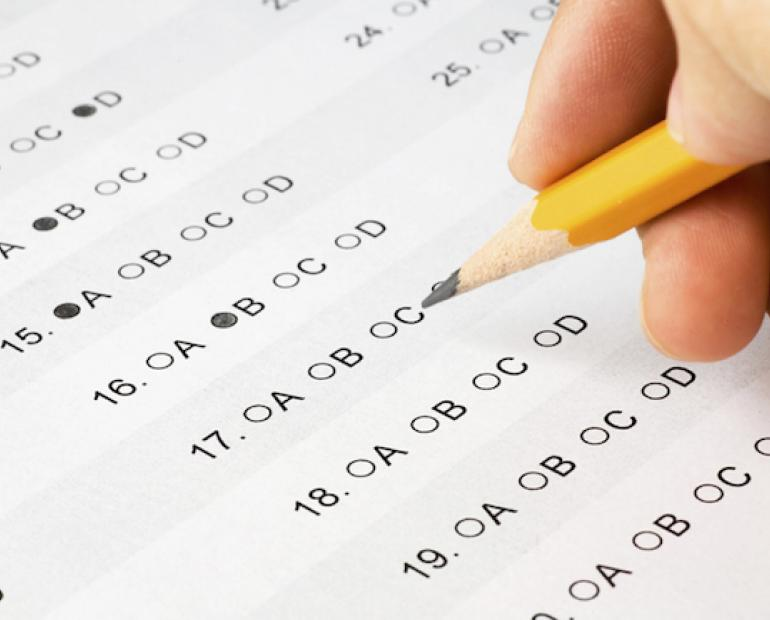 Standardized Testing Answer Sheet