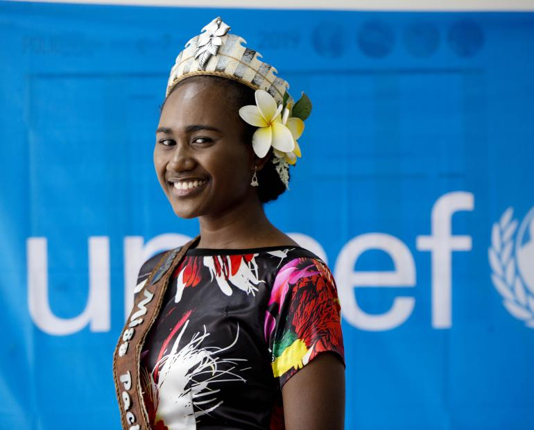18-year-old Leoshina Kariha has been announced as UNICEF's first Youth Advocate in Papua New Guinea.