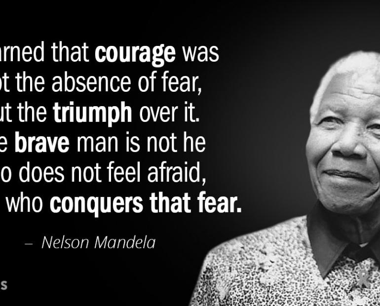 About courage and compassion, improve the world from inside out