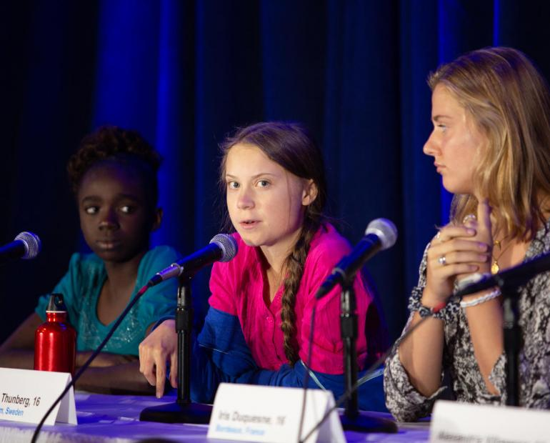 Greta Thunberg and two other child petitioners