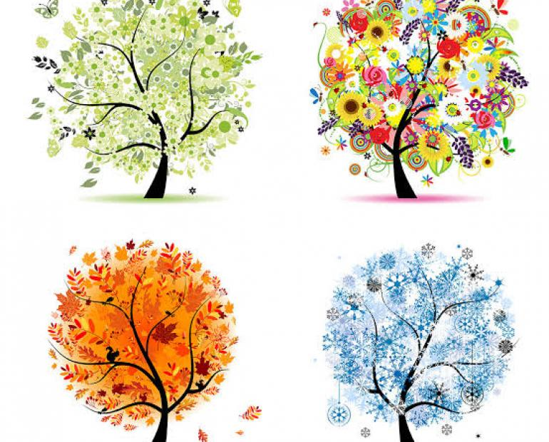 It's four trees representing four seasons.