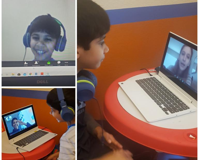 My Brother Learning Through The Zoom Classroom