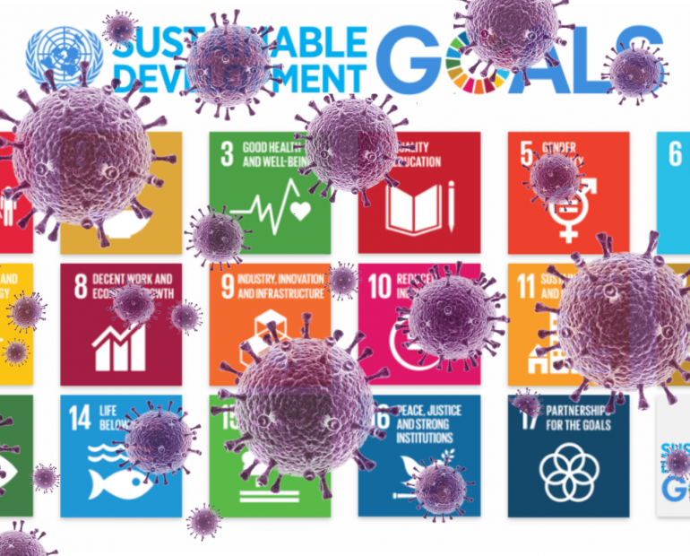 The Sustainable Development Goals with the Corona Virus on top