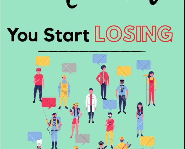 A template for 'The moment you start losing'