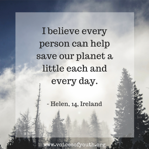 Quote about Climate Change action
