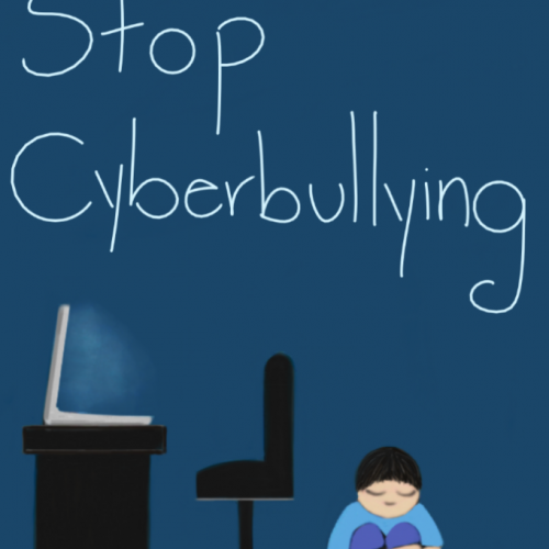 Illustration by Diana Rivera about cyber bullying and online kindness