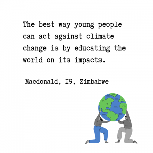 Quote from Voices of Youth on Climate Action