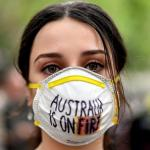 Protest against the bushfires in Australia