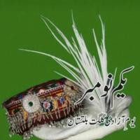 traditional caps of giglit baltistan and the text written in urdu is the 01-November independence day of gilgit baltistan