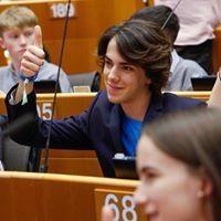 """This photo shows me at the European Parliament for """"EUROPE KIDS WANT"""" event."""