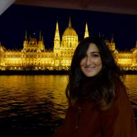 A picture of me in front of Budapest Parliament during a cruise in the Danube river.