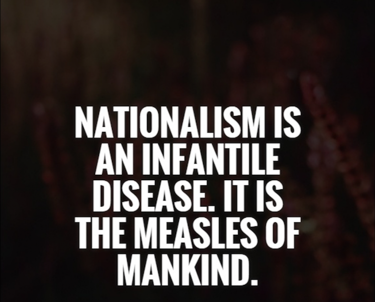 Quote on nationalism by Albert Einstein