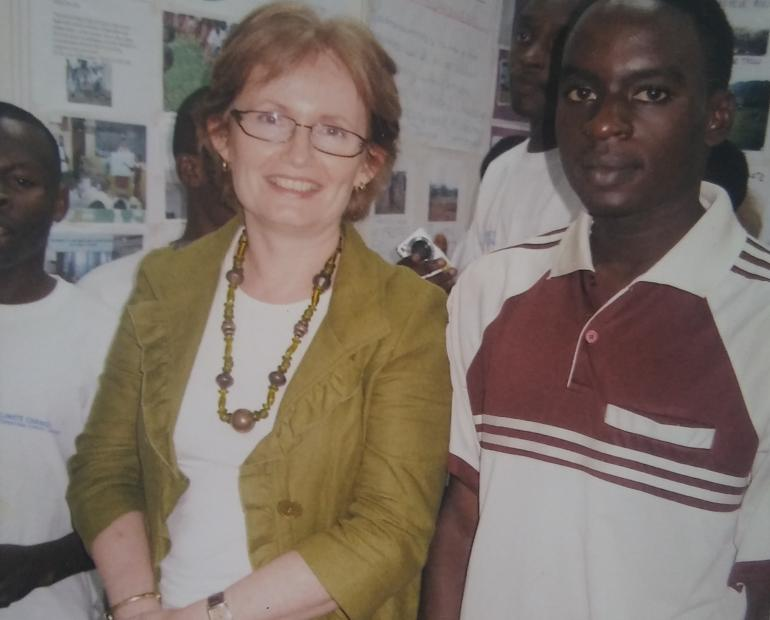 Berthold Bonny with Diane Corner; the former deputy head of the United Nations Multidimensional Integrated Stabilization Mission in the Central African Republic (MINUSCA)