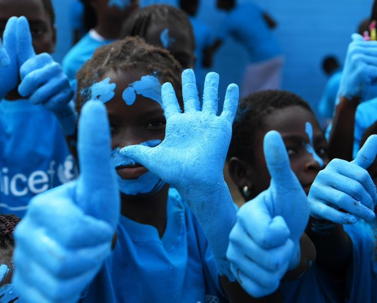On November 20, the globe is turning blue for World Children's Day