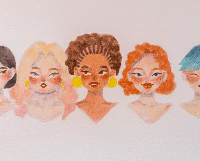 A beautiful illustration of diffence of the dazzling woman diversity