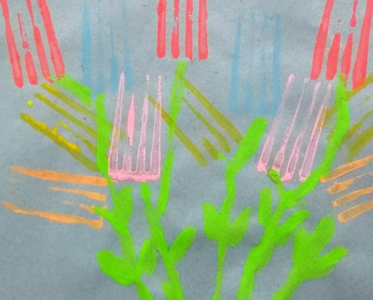Painting with Fork