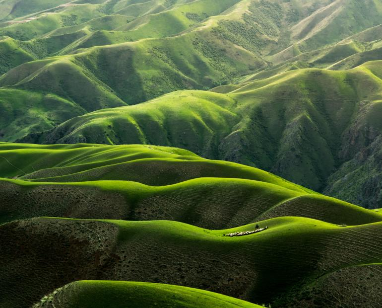 Bird's Eye View Photography of Green Mountains