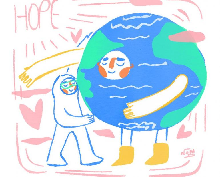 humanity medical workers planet heroes hope