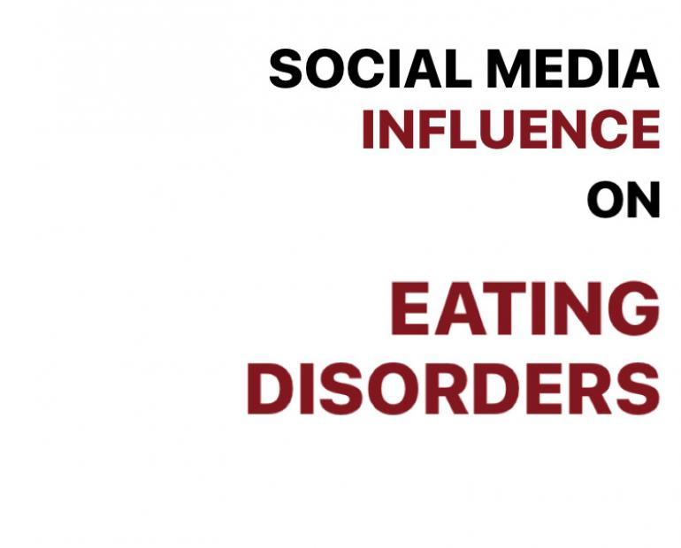 Text: Social media influence on eating disorders