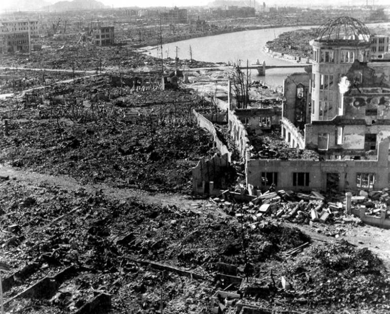 The disaster that occurred in Hiroshima
