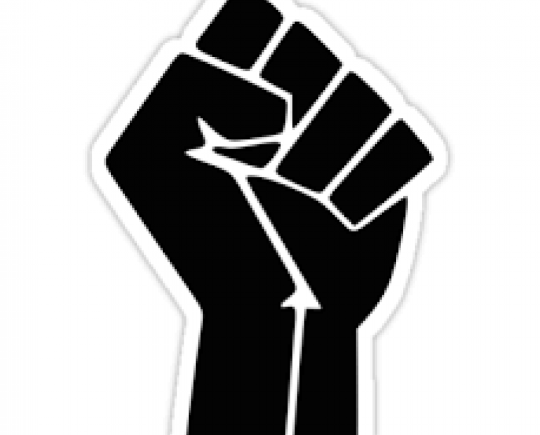 Black Lives Matter logo of fist