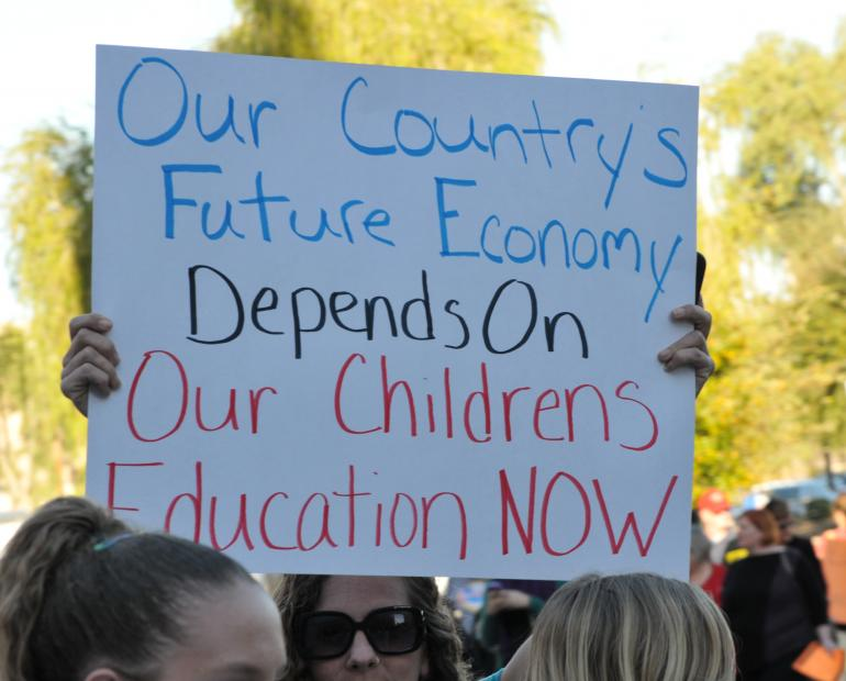 Our country's future economy depends on our children's education now.