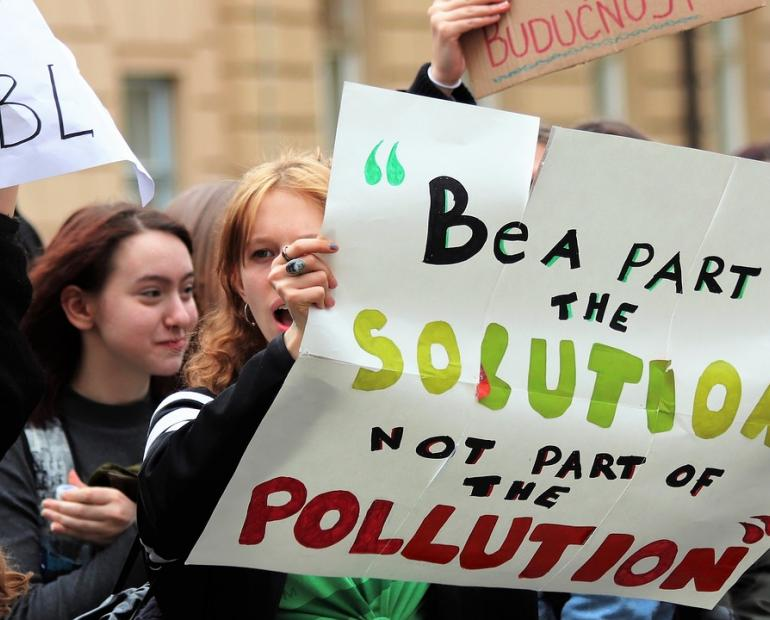 Students Climate Strike- Be A Part Of The Solution Not Part Of The Pollution
