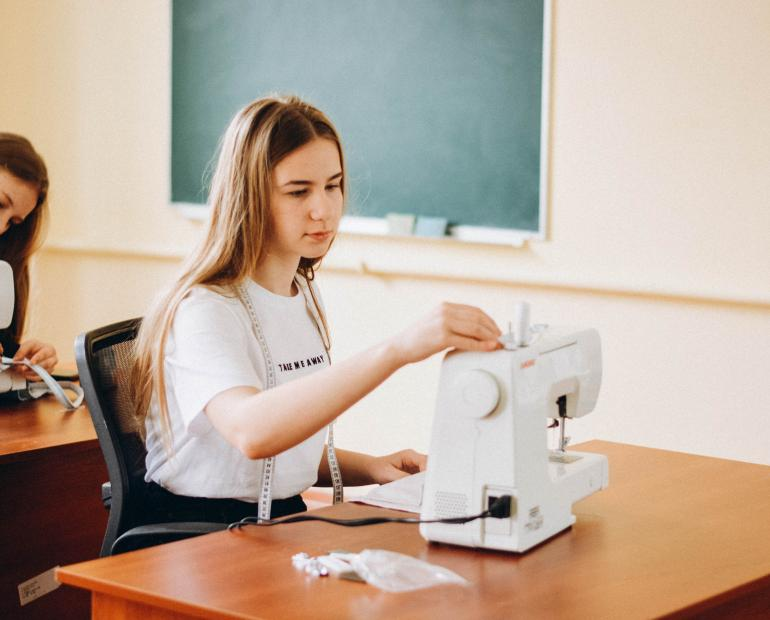 Yuliia Hurnitska, 14, from Bratslav, Ukraine, is a co-founder of Green Line eco-workshop.