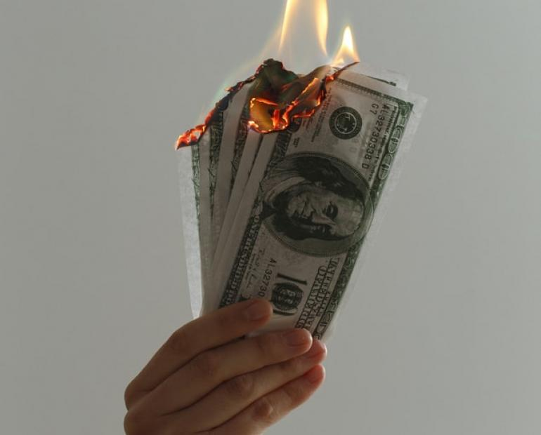 Money burning