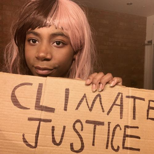 Dominique Palmer, climate activist from the UK