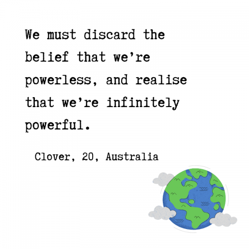Quote by Clover Hogan about climate action