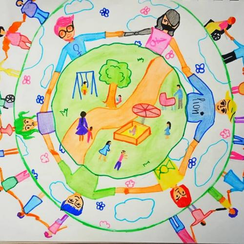 World Children's Day illustration by Begimai, 14, Kyrgyzstan