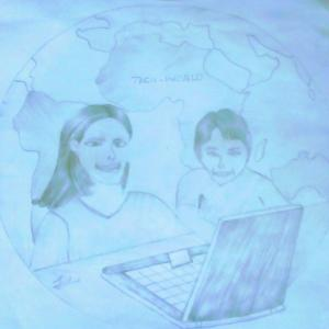 #voicesofyouth I decided to draw that and named it TECH-WORLD, A world where  children has the right to learn more about computers as we are in COMPUTER AGE, where every development needs the help of the computer,  so let us allow children to know  more about computers as where we are going computers will be our aid in our everyday life and every working place computers are needed!  -Tommy mind
