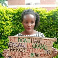 Vanessa Nakate, a young climate activist from Uganda