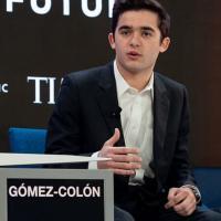 Image of Salvador Gómez-Colón speaking at the World Economic Forum in Davos, Switzerland.