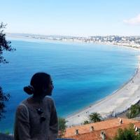 Beautiful view on the coast of Nice, France.
