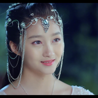 A Chinese girl dressed like a princess