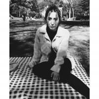 Me (Danae) sitting in a park