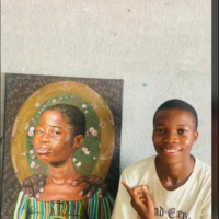 My name is Gajilo Michael olamilekan known as @soft_art02 the youngest hyperealism painter in Nigeria and Africa 🏆,the artwork is about the great mother ,how my mother is great to me and how she cares always , provide her meat in the summer and gather her food in the harvest,a little folding of hand to sleep .
